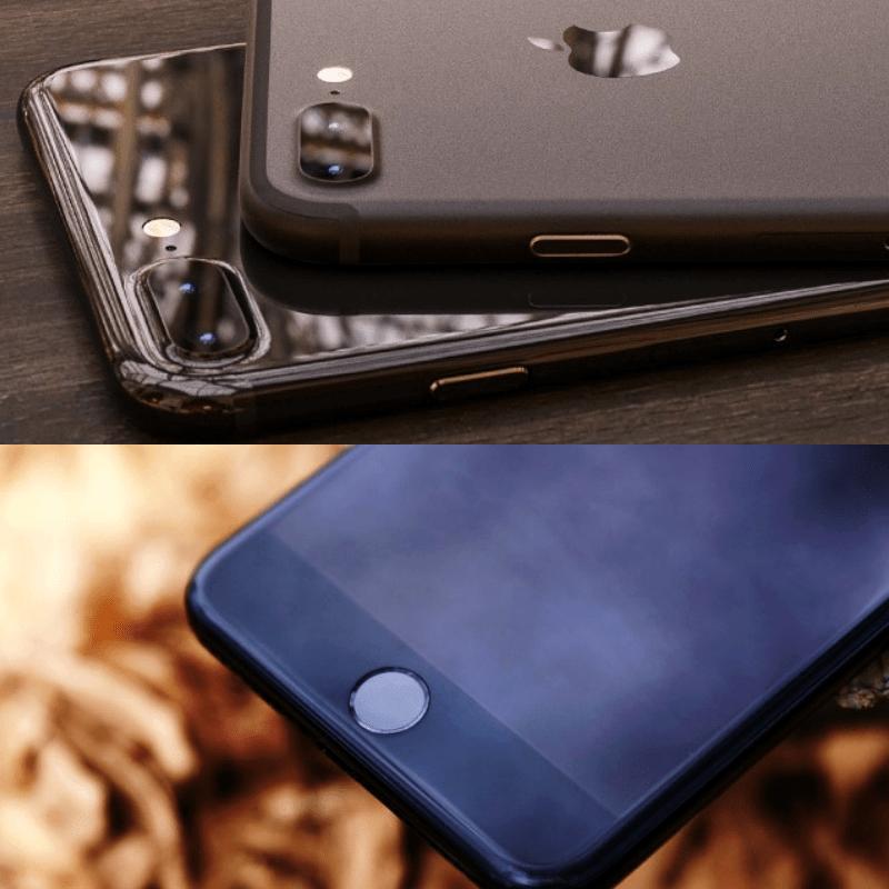 Nút Home quen thuộc không còn là phím vật lý nữa mà được thay thế bằng cảm ứng, nó sẽ rung lên khi bạn ấn.